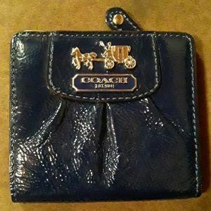 Coach navy blue wallet
